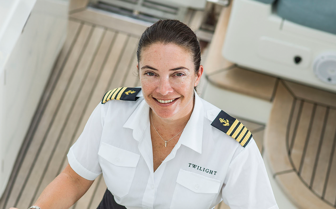 SY Twilight Captain, Kathy Pennington