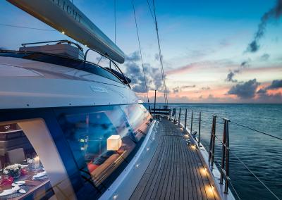 On deck SY Twilight