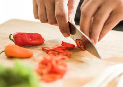 Freshly sliced chillies