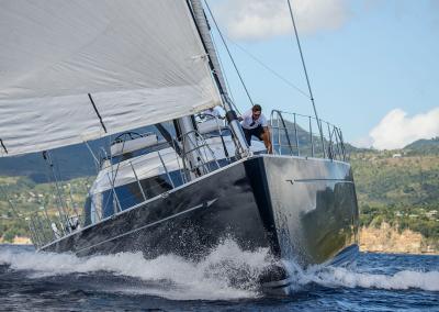 Action Shot Under Sail