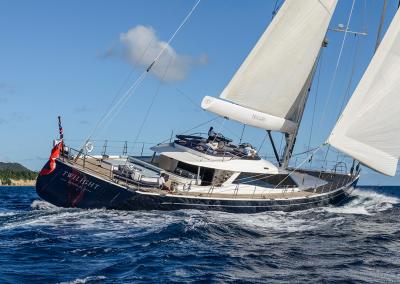 Complete Yacht Under Sail Shot