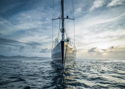 Front view, at anchor