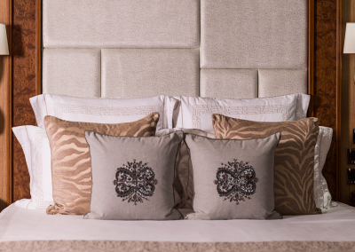 Feature headboard in master suite